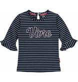 Quapi Quapi T-shirt Siska navy stripe