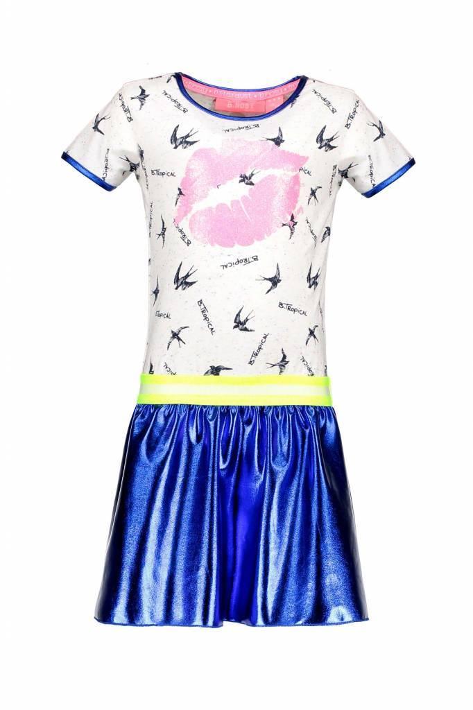 B.Nosy B.Nosy jurk bird wird coated skirt tropical ao rainbow melee