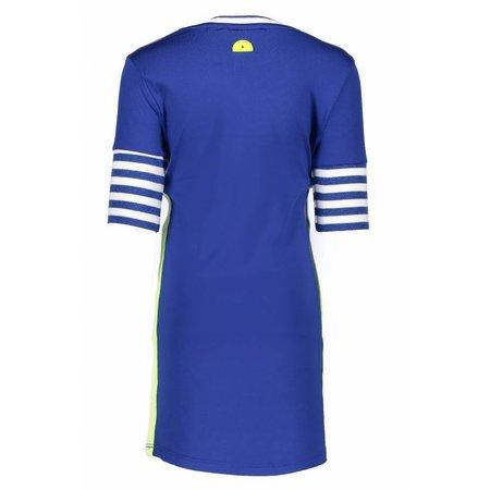 B.Nosy B.Nosy jurk with rib sleeves royal blue
