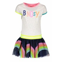 Jurk rainbow with sequinces skirt part