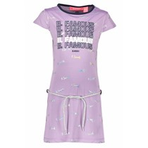 Jurk foil print with belt sweet lilac coconuts silver foil ao