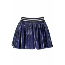 Rokje coated pleated midnight blue