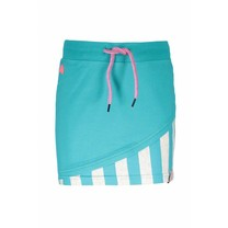 Rokje with double layer front, fancy tape at waistband hot turquoise