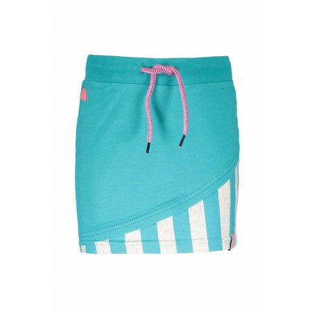 B.Nosy B.Nosy rokje with double layer front, fancy tape at waistband hot turquoise
