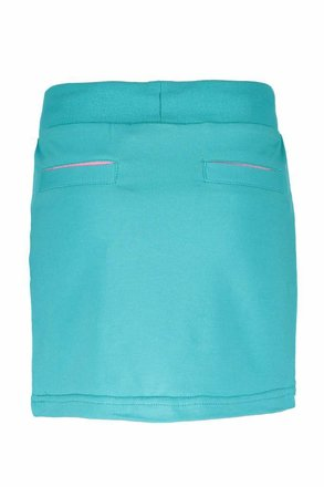 B.Nosy rokje with double layer front, fancy tape at waistband hot turquoise