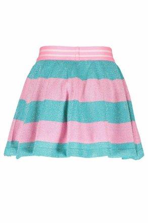 B.Nosy rokje knitted lurex stripe hot turquoise
