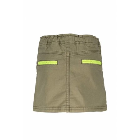 B.Nosy B.Nosy rokje straight with string in waistband fern green
