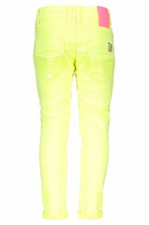 B.Nosy broek with sequinces back pocket electric yellow