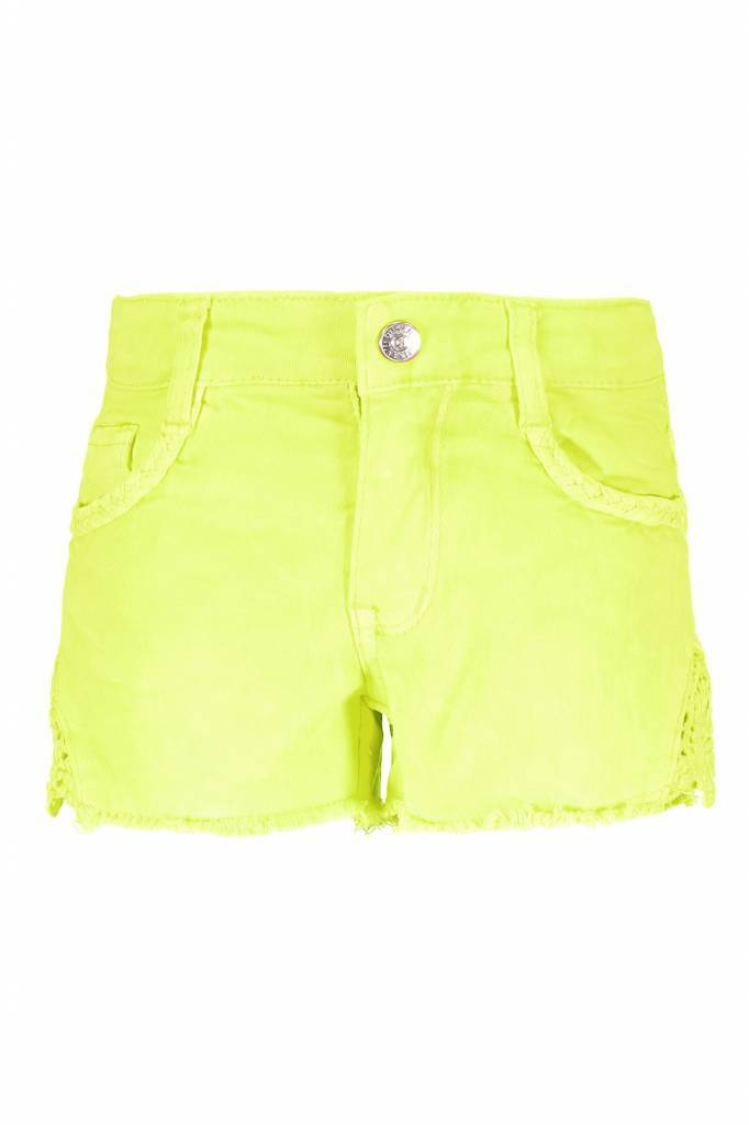 B.Nosy B.Nosy short with lace on sides electric yellow