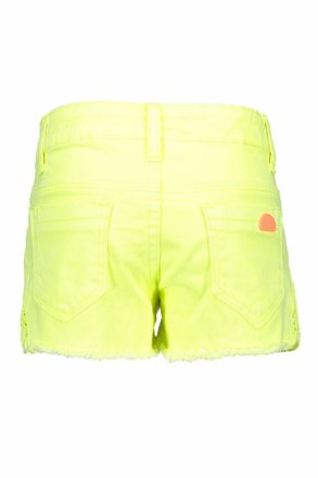 B.Nosy short with lace on sides electric yellow