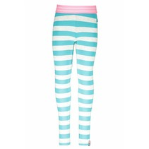 Legging stripe ecru melee hot turquoise