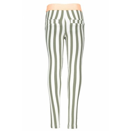B.Nosy B.Nosy legging vertical stripe fern green white