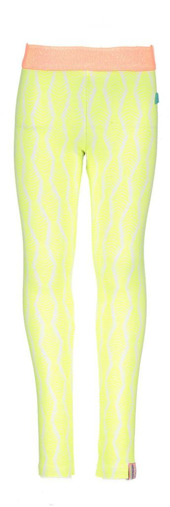 B.Nosy B.Nosy legging zebra print ao electric yellow