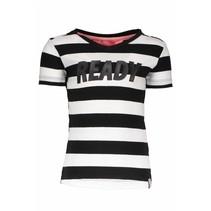 T-shirt twinning black white stripe