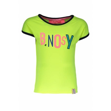 B.Nosy B.Nosy T-shirt with multi color artwork electric yellow