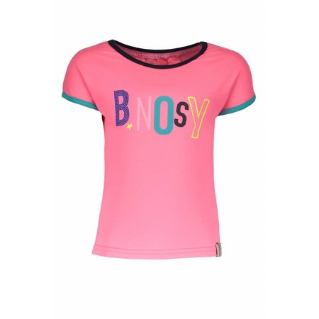 B.Nosy B.Nosy T-shirt with multi color artwork bubblegum