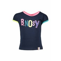 B.Nosy T-shirt with multi color artwork midnight blue