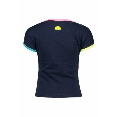 B.Nosy B.Nosy T-shirt with multi color artwork midnight blue