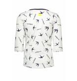 B.Nosy B.Nosy T-shirt 1/2 sleeve with bird ao print rainbow melee