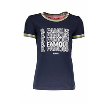 B.Nosy T-shirt with rib neck and sleeves cuffs midnight blue