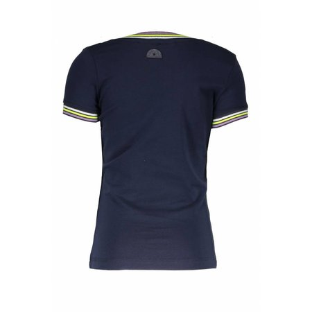 B.Nosy B.Nosy T-shirt with rib neck and sleeves cuffs midnight blue