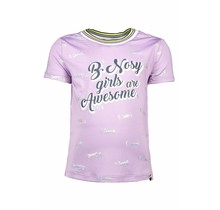B.Nosy T-shirt with rib neck and sleeves cuffs sweet lilac