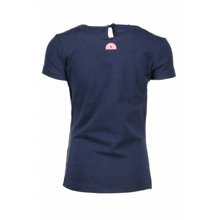 B.Nosy B.Nosy T-shirt with round smock part at neck midnight blue