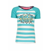 T-shirt raglan stripe hot turquoise