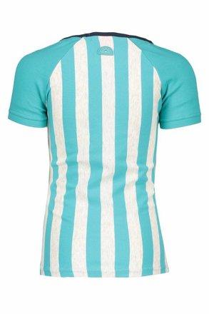 B.Nosy T-shirt raglan stripe hot turquoise