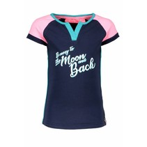 T-shirt raglan stripe with star sleeves midnight blue