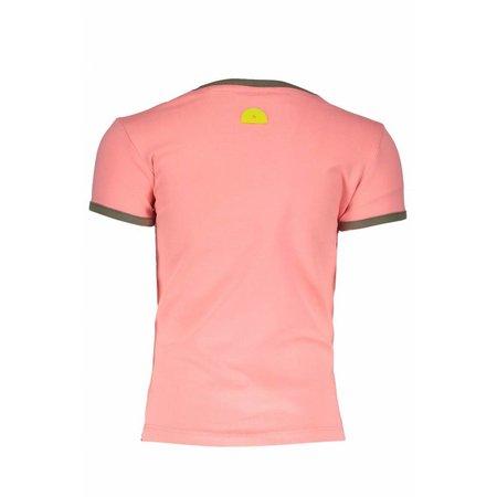 B.Nosy B.Nosy T-shirt embroidery bright salmon