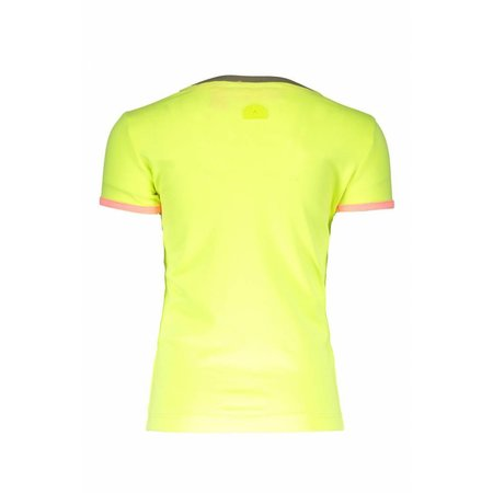 B.Nosy B.Nosy T-shirt embroidery electric yellow