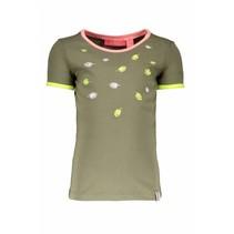 T-shirt embroidery fern green