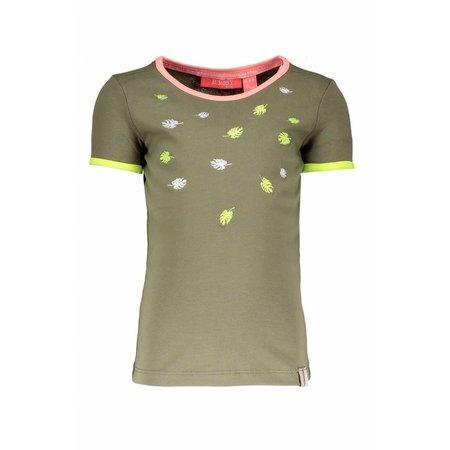 B.Nosy B.Nosy T-shirt embroidery fern green