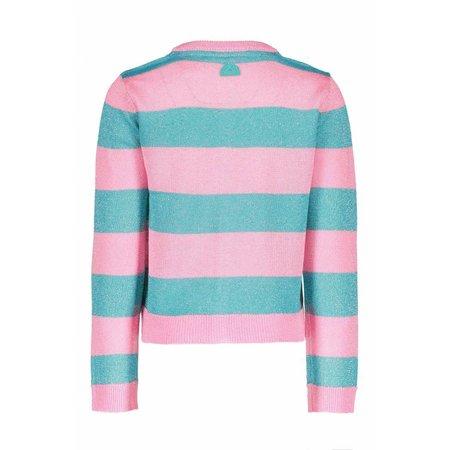 B.Nosy B.Nosy vest knitted stripe hot turquoise
