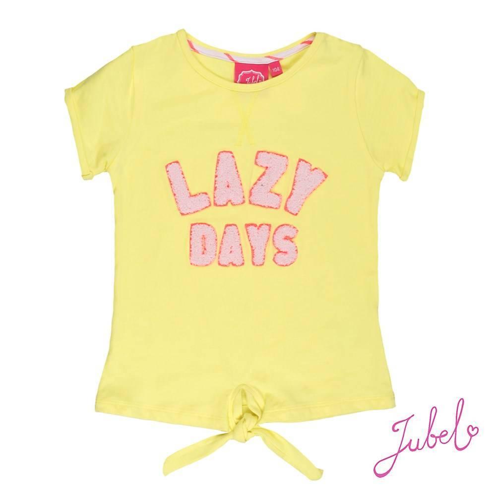 Jubel Jubel T-shirt lazy days la isla geel