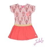 Jubel Jubel jurk streep/aop la isla koraal