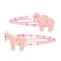 Haarclip Cira, paard licht roze (2 stuks)