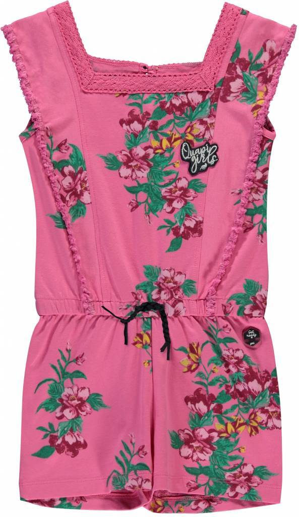 Quapi Quapi jumpsuit Shenna bright pink flower