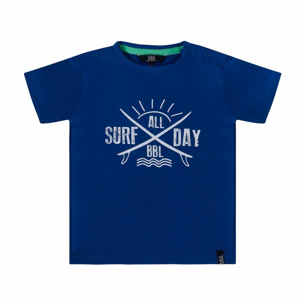 Beebielove Beebielove T-shirt surf all day blue
