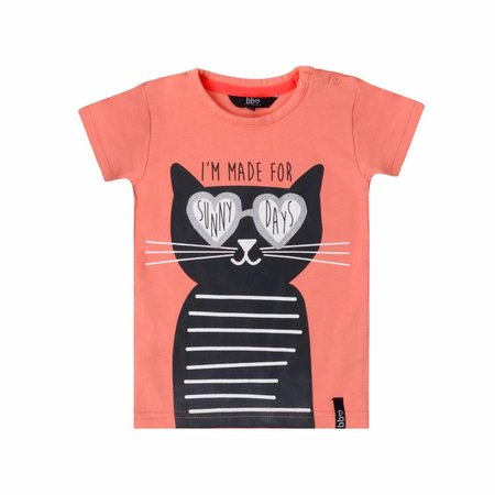 Beebielove Beebielove T-shirt cat coral