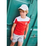 Bellaire Bellaire T-shirt Kars white front yoke bright red