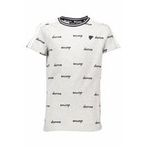 T-shirt KarstB aop logo contrast yoke navy blazer