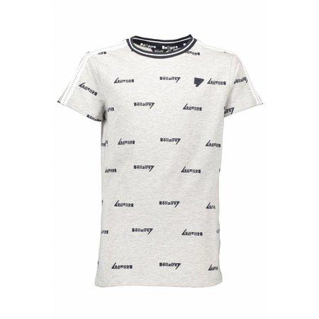 Bellaire Bellaire T-shirt KarstB aop logo contrast yoke navy blazer