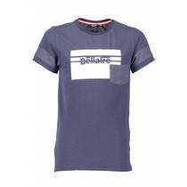T-shirt Kelton dots large square print navy blazer