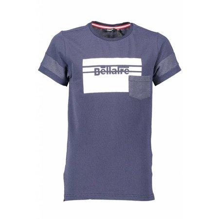 Bellaire Bellaire T-shirt Kelton dots large square print navy blazer