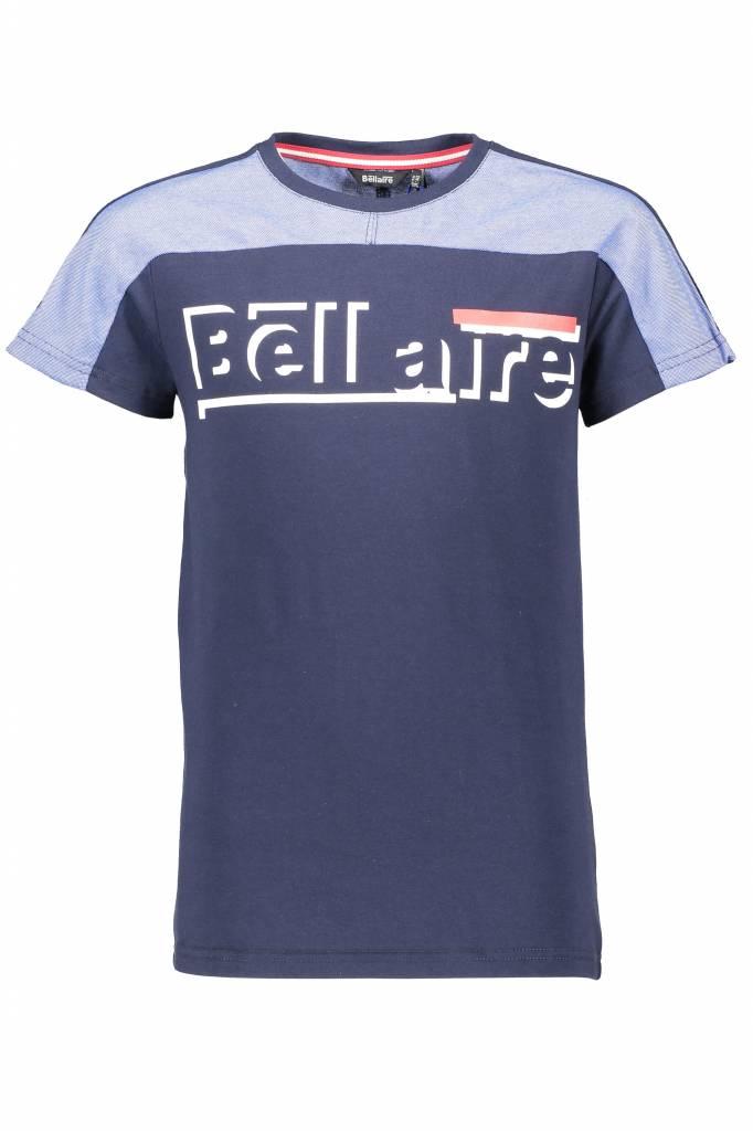 Bellaire Bellaire T-shirt KarsB pique toppart navy blazer