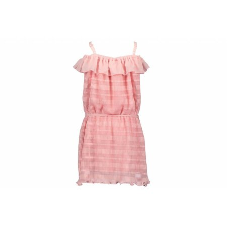 Le Chic Le Chic jurkje shoulderstraps & ruffle pink crystal