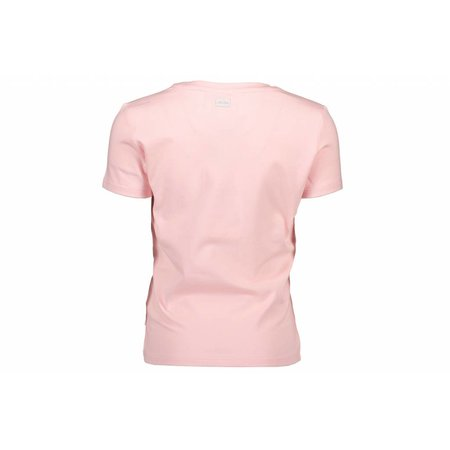 Le Chic Le Chic T-shirt square sequins heart pink crystal