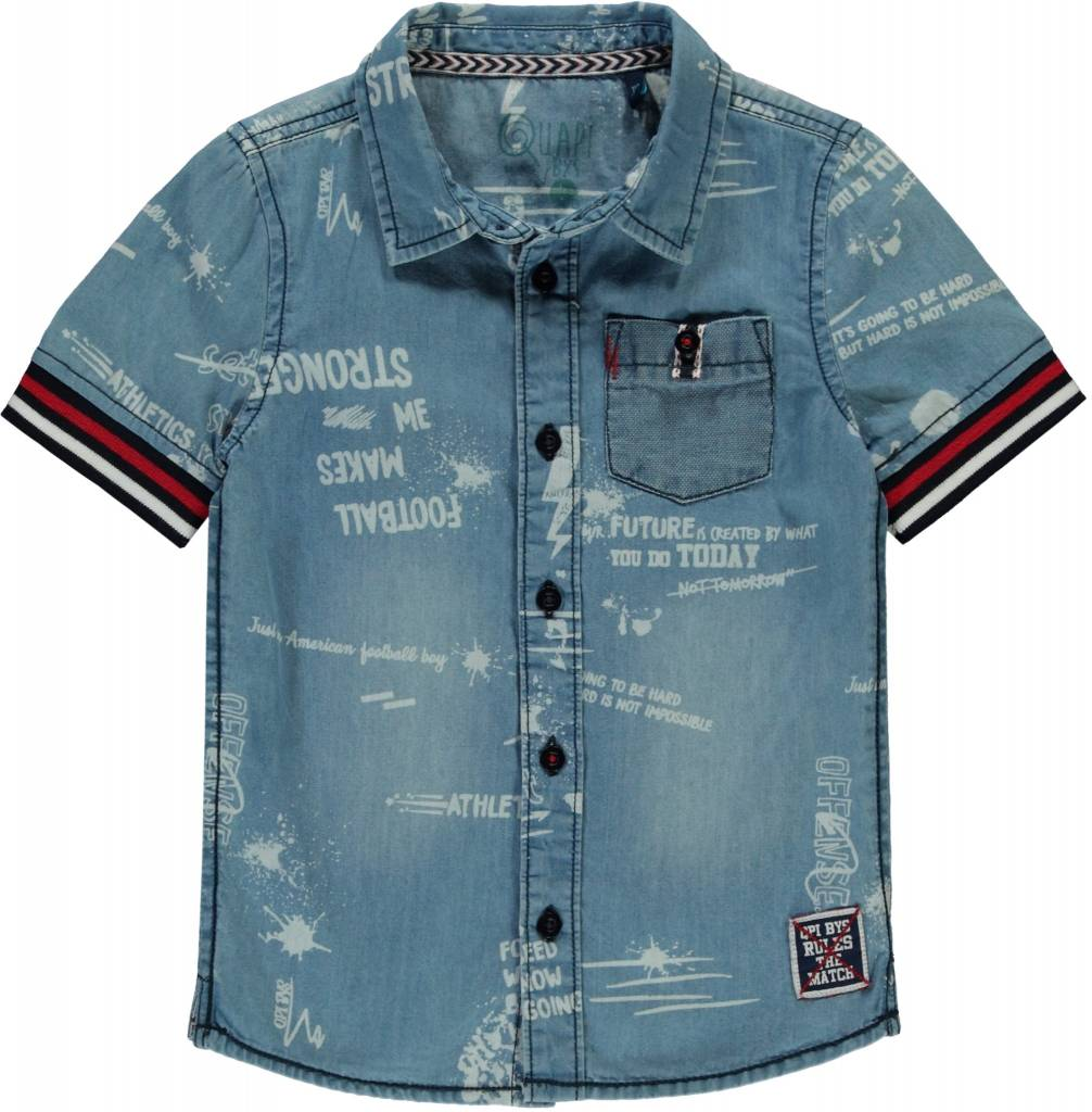 Quapi Quapi denim shirt Senon denim text